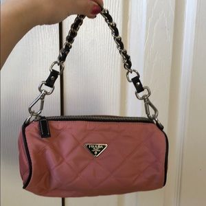 PRE-LOVE PRADA QUILTED BARREL CHAIN PURSE